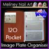 120 pocket rectangle image plate organiser folder case bag round