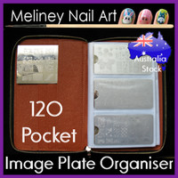 120 pocket rectangle image plate organiser folder case bag round