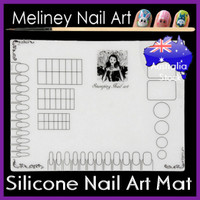 silicone nail art mat for stamping designs
