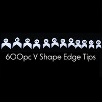 french edge tips v shape