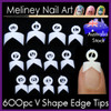 french edge tips v shape