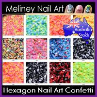 Hex series nail art confetti