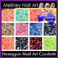 Hex series nail art confetti