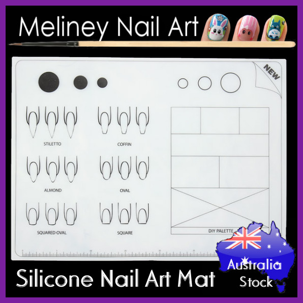 silicone nail art mat new. Black Bedroom Furniture Sets. Home Design Ideas