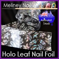 holographic leaf nail foil