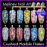 crushed marble flakes
