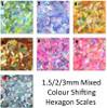 Mermaid Fish Scale hexagon confetti