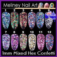 mixed colour hex confetti