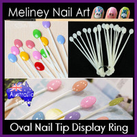 100pc Oval Nail Ring