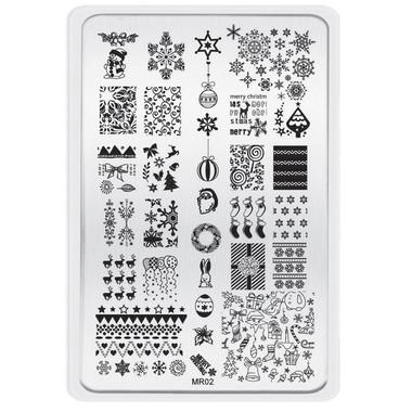 MR-02 Image plate Christmas