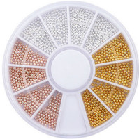 3 colour metal beads