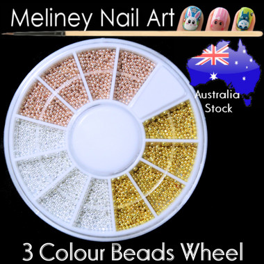 3 coloue metal beads wheel