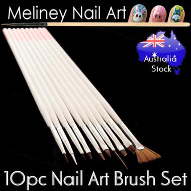 10pc Nail art brush set