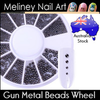 Gun Metal beads Wheel for nail art