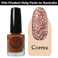 Meliney Nail Art Stamping Polish 9ml Copper