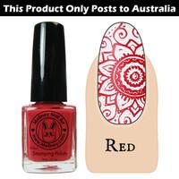 Meliney Nail Art Stamping Polish 9ml Red