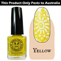 Meliney Nail Art Stamping Polish 9ml Yellow