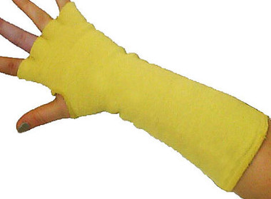 Arm and hand protector is made to withstand high heat rated up to 700 degrees fahrenheit and the fabric will not melt or drip, making them a great barrier for hot and cold protection.
