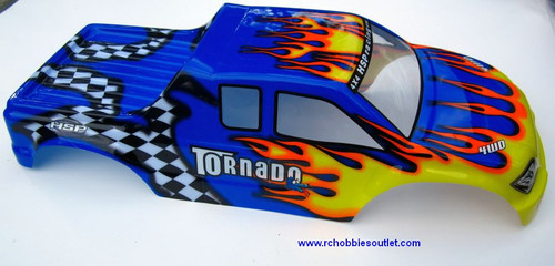 08313 NEW 1/8 RC TRUCK BODY -- SUIT TORNADO / Nokier  TRUCK