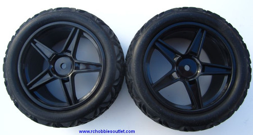 20123 Rear Tire & Wheel  HSP Sand Rail Buggy 06026 Black Rim