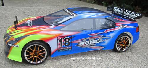 RC NITRO RACE CAR  RADIO REMOTE CONTROL 2.4G 1/10 RTR 4WD 01024