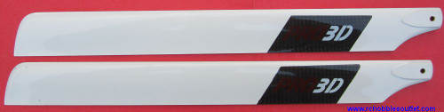 PRO-3251  Main Blade for e-Razor 450 Helicopter -Carbon Fiber