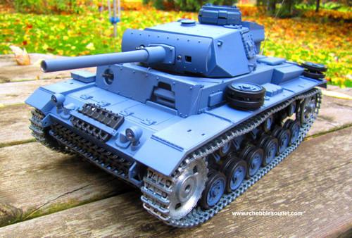RC Tank PanzerKampWagen III Pro Verison 1/16 Scale Metal Upgrades