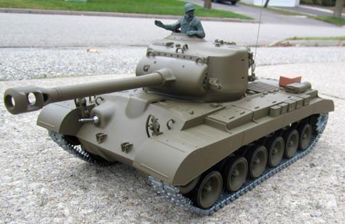RC Tank 1/16 Snow Leopard M26 Pershing w/Metal Upgrades, Smoke RTR 3838-1