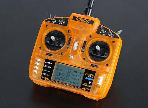 rangeRx T-SIX 2.4GHz DSM2 Compatible 6CH Transmitter w/10 Model Memory and 3-Pos Switch (Mode 2)