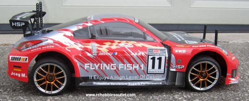 RC Nitro Race Car Radio Remote Control 2.4G 1/10 RTR 4WD 12310