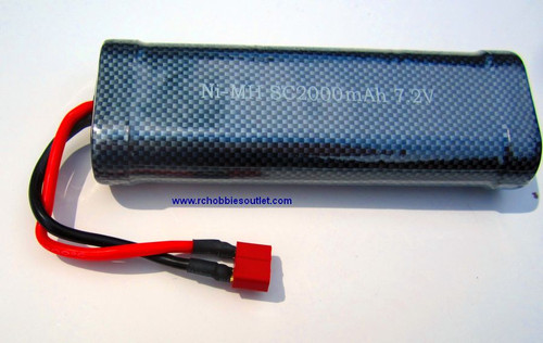 7.2 V 3600 mAh Rechargeable Ni-MH Battery T-connector
