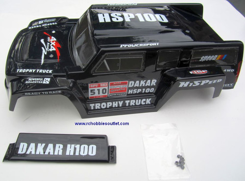 12894 Body Shell for 1/10 Scale Trophy Truck Precut HSP Redcat