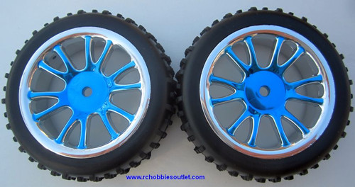 85024N Rear Wheels Complete Blue
