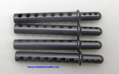 762001 Body Post (AL.) 4P  Grey/Silver 1/8 scale  862001