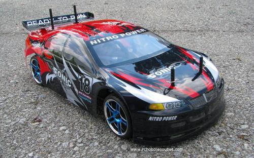 RC NITRO RACE CAR  RADIO REMOTE CONTROL 2.4G 1/10 RTR 4WD 10222