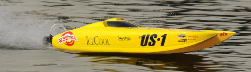 US-1 IceCool RC Racing Boat V2 Brushless Electric ARTR Catamaran