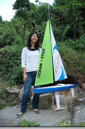 RC Sail Boat Yacht Sailboat Ocean Star 2.4G Radio 2.2 Meter RTR