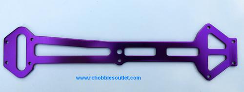 03990  Radio Tray Purple Aluminum Upper Top Plate  HSP. Redcat