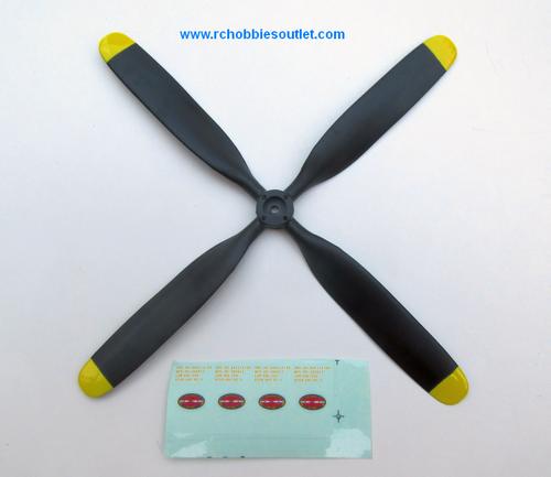 FMSPROP039 7.5*4 (4-blade) propeller FMS