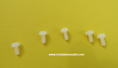 Nylon Screw 3x8mm  (5PCS)
