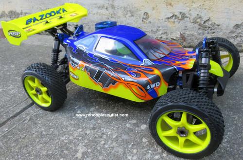 RC Nitro Buggy / Car 1/8  Scale Bazooka PRO Radio  Control 2.4G  4WD  81353Y
