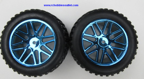 15520 15502 Wheels --Tire & All-Blue  Rim  for Short Course Truck HSP, Redcat