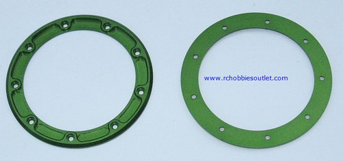 880014 Aluminum Tire Secure Ring Green  2 Pieces ( 99005)