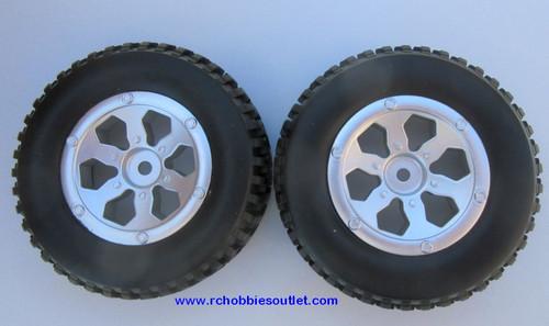20114  Complete Tire & Wheel Silver Rim  Trophy Truck HSP Redcat