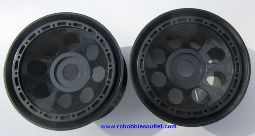 98049  Black Wheel Rims  for 1/8 scale HSP, Redcat. Exceed  Rock Crawler