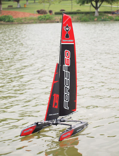 Force 2 60 RC Sailboat Catamaran Hull RTR Joysway 88806