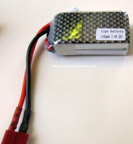 LIPO Lithium RC Battery 7.4V 25C 2 CELL 1100MAH  For J3 Cub Airplane