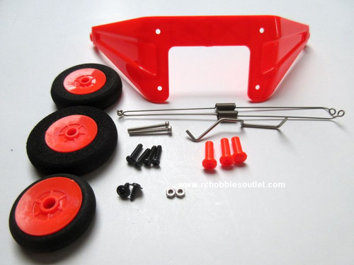 620305 Landing Gear Set-Orange For Super Cub V2 Joysway Airplane