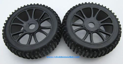 85746  Wheels Complete with Black Rim HSP Redcat , HIMOTO ETC