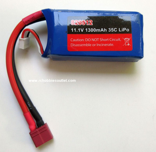 820512  11.1V 1300mAh 35C LiPo Pack  for Joysway Airplanes